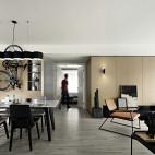 优雅现代三居客餐厅设计
