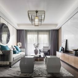 混搭樣板房客廳設計