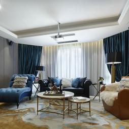 现代美式别墅客厅设计