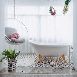 现代美式二居阳台浴缸设计