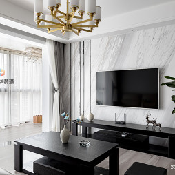 现代简约风格二居客厅电视墙设计
