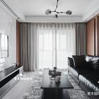 现代简约风三居客厅电视墙设计