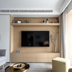 简洁现代二居电视背景墙设计