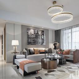 现代样板房客厅设计