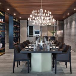 精致简欧别墅餐厅设计