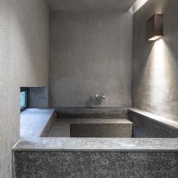 混搭度假酒店浴池设计