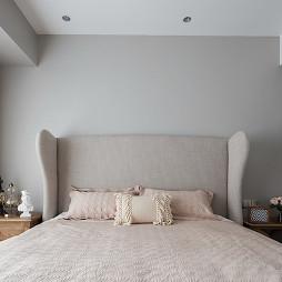 美式三居卧室背景墙图