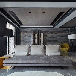 现代别墅客厅吊顶设计