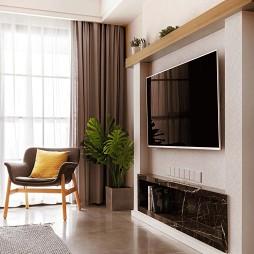 北欧风客厅电视墙设计