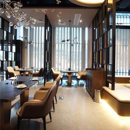 港式粥火锅餐厅就餐区隔断设计