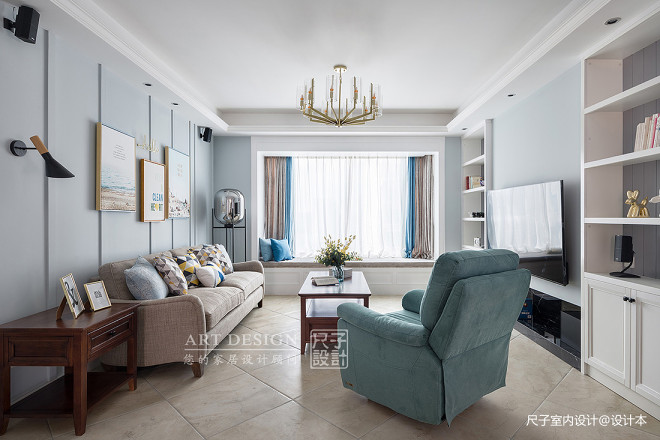 美式客厅设计欣赏