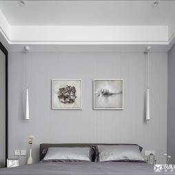 现代风卧室背景墙装修设计