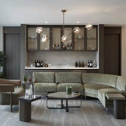 售楼处沙发背景墙设计欣赏