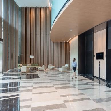 凯悦嘉轩酒店空间首层大堂设计图