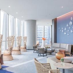 凯悦嘉轩酒店空间休息区装修设计图