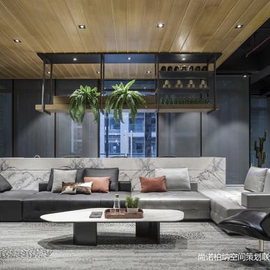 广州琶洲SOHO街区办公空间开放式办公区设计图