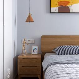 76m²简约风格三居卧室床头柜设计图