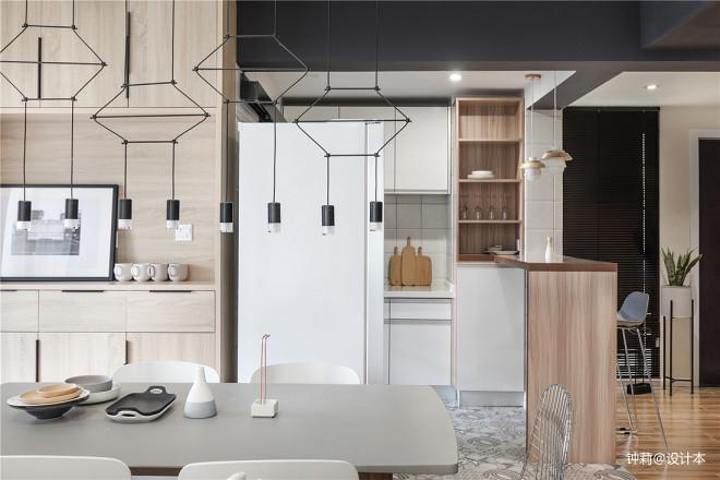 简约风格豪宅设计餐厅吧台设计图