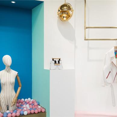 混搭風重慶全球設計師集合服裝概念店設計圖欣賞