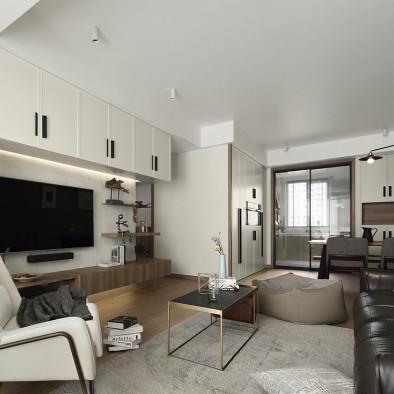 素净而优雅,现代中性风格三居客厅设计美图