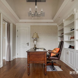 美式风别墅设计书房设计图