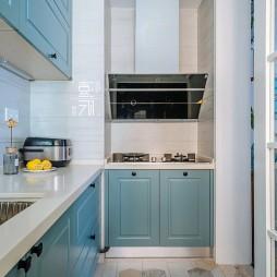 玉龙山北欧风二居厨房设计图