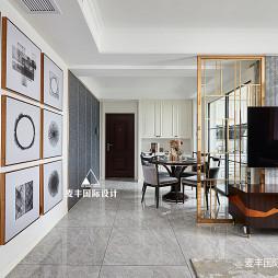 美图美式三居客厅装修设计图