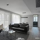 黑白现代三居客厅设计图