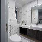 黑白现代三居卫浴图