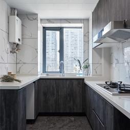 黑白现代三居厨房设计图