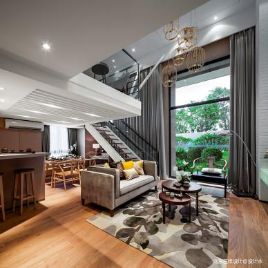 样板房现代别墅客厅设计图