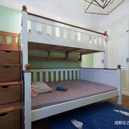 城南华府美式儿童房上下床设计图