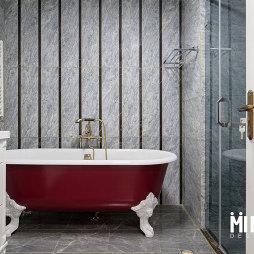 美式四居卫浴装修设计图