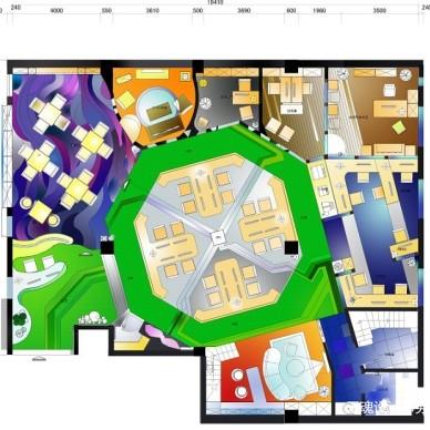 三亚元洲办公空间方案手绘_3359773