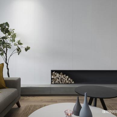 素·然三居住宅现代风客厅局部装饰设计图