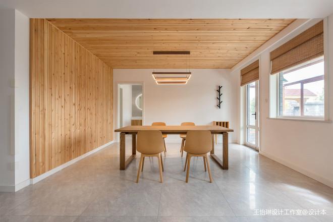 原木舒适的北欧风格餐厅设计