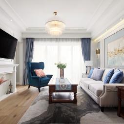 美式小三居客厅设计