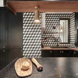 混搭二居-厨房格子调设计图