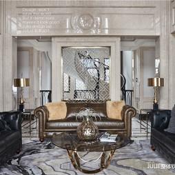 美式风格豪华客厅设计图