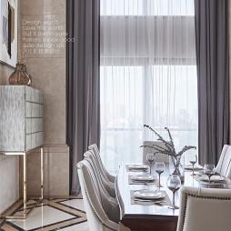 美式风格高贵餐饮客厅设计图