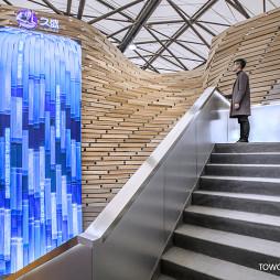 混搭展厅楼梯设计图