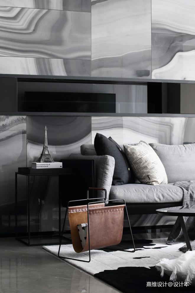 现代风三居客厅沙发装修设计图