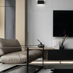 现代风三居电视背景墙装修设计图