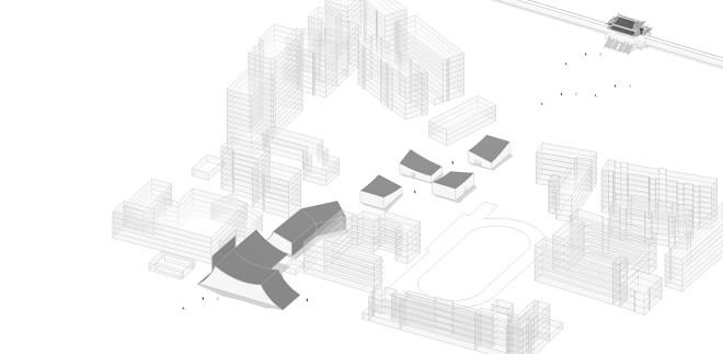 与地景融为一体的弧线型售楼处_341