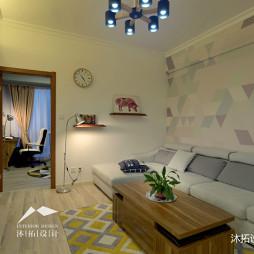 简雅的北欧风格小户型客厅设计