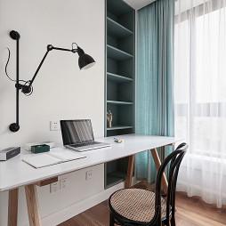 文艺复古北欧风格四居室客书房设计