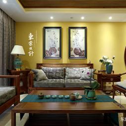 复古的中式风格四居室客厅设计