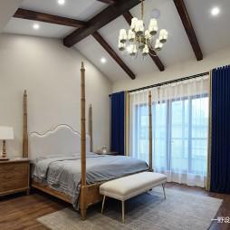 简美风格别墅卧室设计