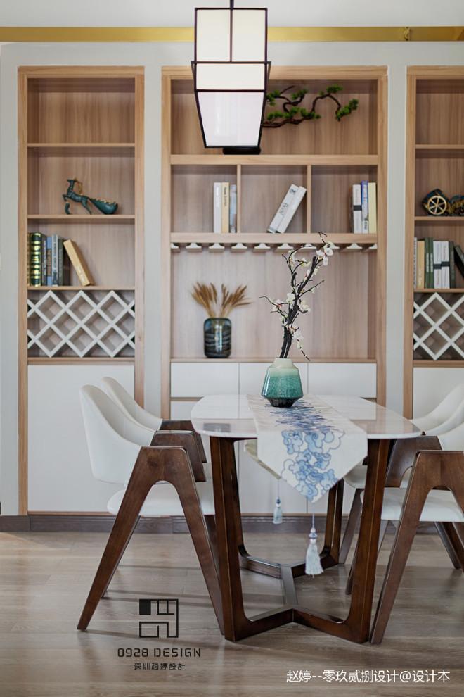 舒适的中式四居室餐厅设计