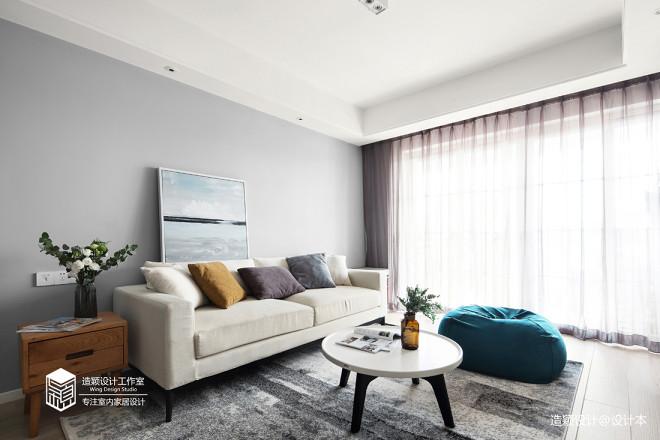 好看的简约风格三居室客厅设计